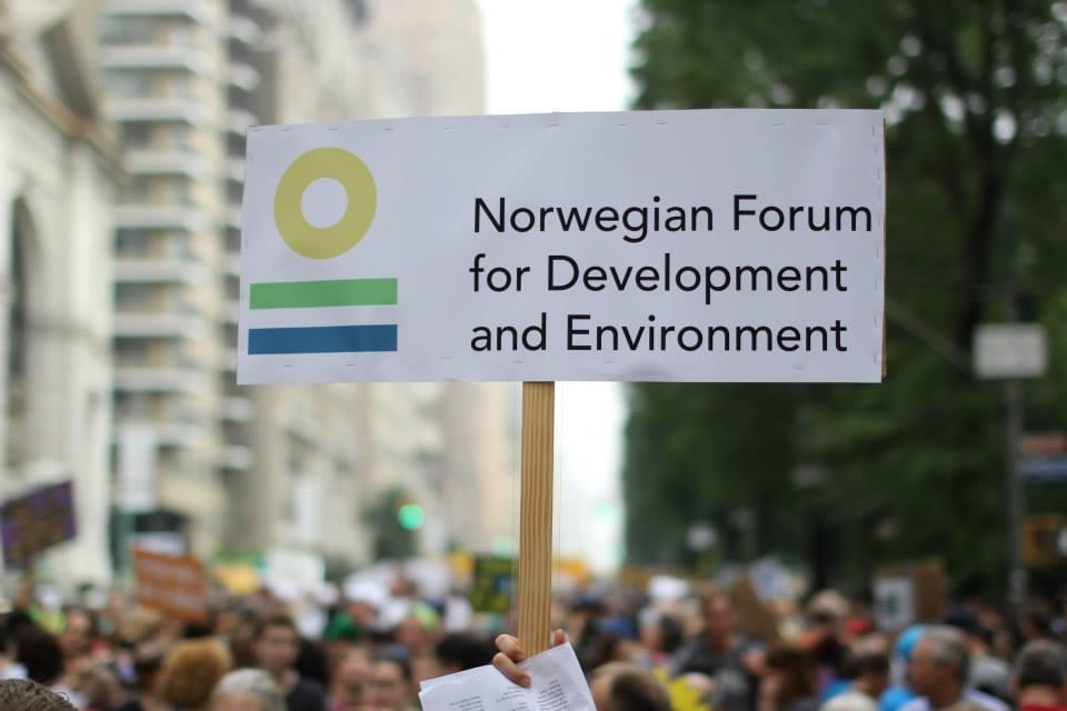 ForUM i klimamarsjen i New York, september 2014. Foto: Kristin Marie Skaar/ForUM