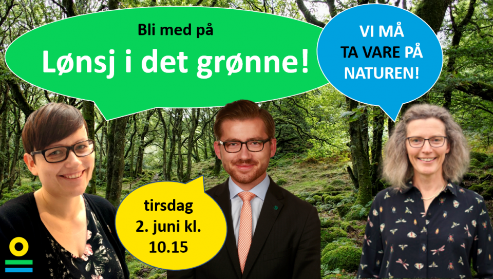 Lønsj i det grønne med Sveinung Rotevatn og Anne Sverdrup-Thygeson