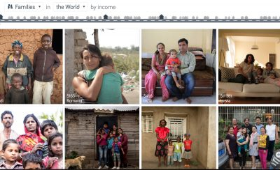 Dollar Street, Gapminder. Families in the world by income.